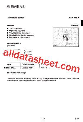 datasheet transistor a564 tca345a datasheet pdf siemens semiconductor