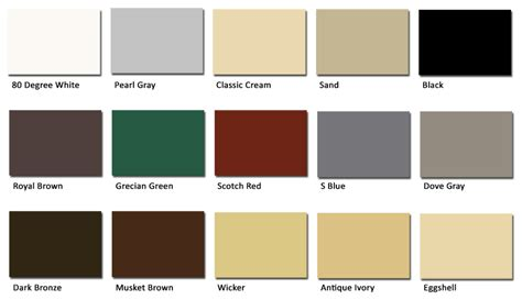 gutter colors a best gutters color swatches1 a best gutters