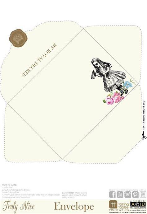 printable envelope art truly alice free printable envelope alice in wonderland