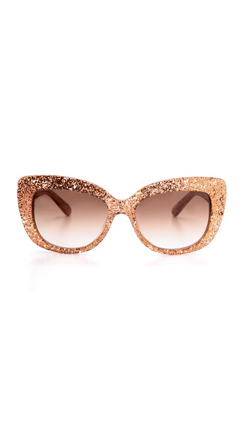 Kate Spade 1881 Set 2in1 lyst kate spade new york ursula glitter cat eye sunglasses in pink