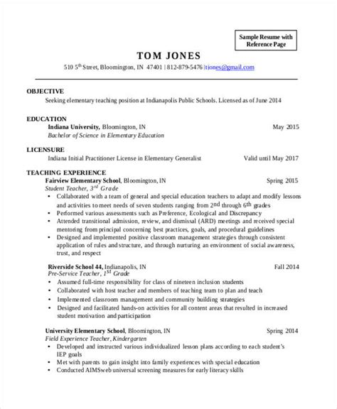 Elementary Education Resume by 28 Resume Templates Free Premium