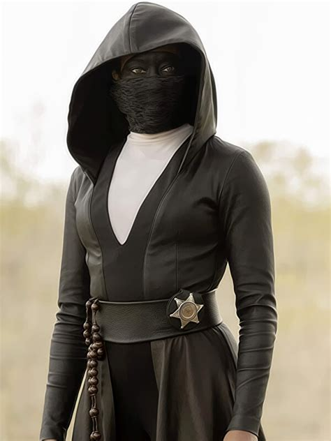 Regina King Watchmen Leather Hooded Coat New American