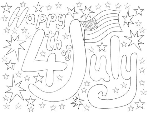 Coloring Page 4th Of July by 4th July Coloring Rooftop Post Printables