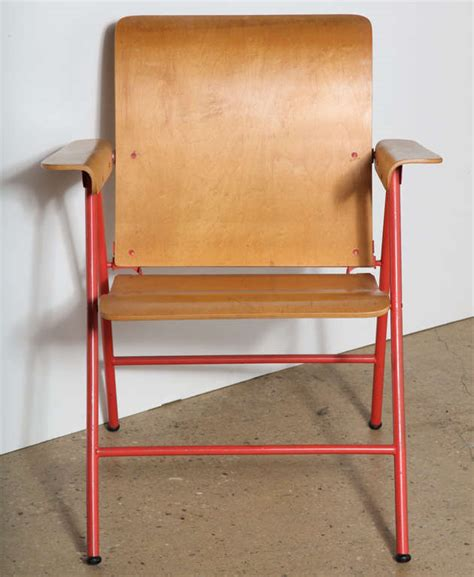 Russel Wright Folding Chair by Set Of 4 Wright Samson Folding Chairs At 1stdibs