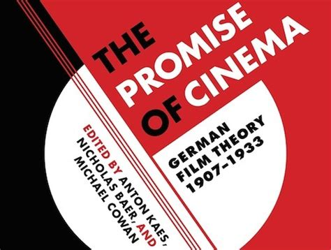 the promise film german the promise of cinema german film theory 1907 1933