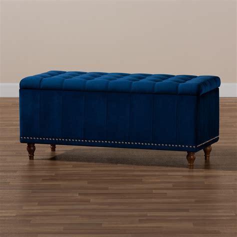 baxton studio kaylee modern  contemporary navy blue