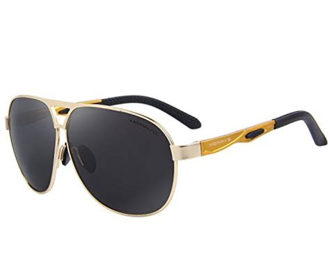 merry s classic brand hd polarized sunglasses aluminum driving sun glasses s8611 gold 62