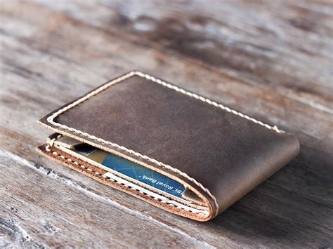 Mens Handmade Leather Wallet - handmade leather wallet best groomsmen gifts gifts for