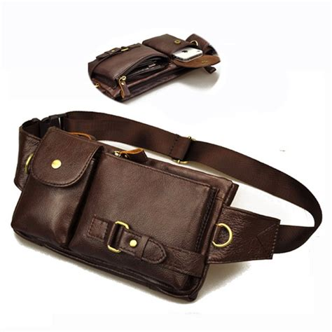 8 Travel Accessories I Cant Resist by Vintage Genuine Leather Small Belt Bag Tactical
