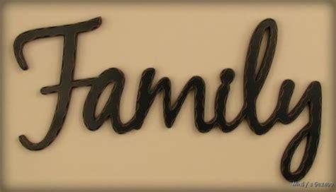 Word Blocks Home Decor primitive country home wall decor black family word art