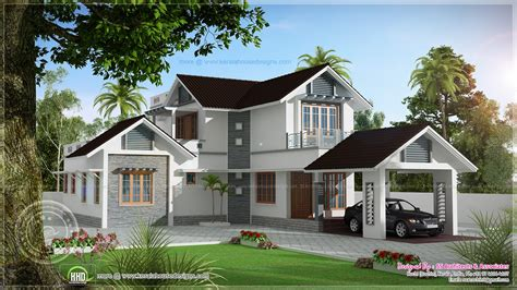 beautiful house plans 1922 sq ft double storied villa home kerala plans