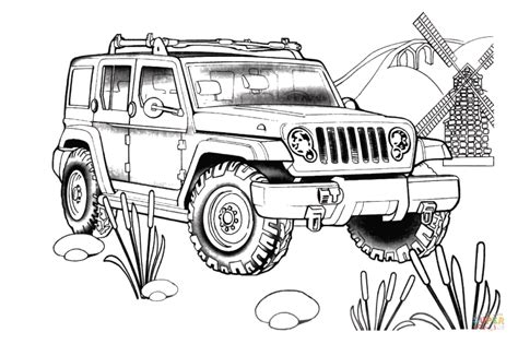 jeep renegade coloring page jeep rescue coloring page free printable coloring pages