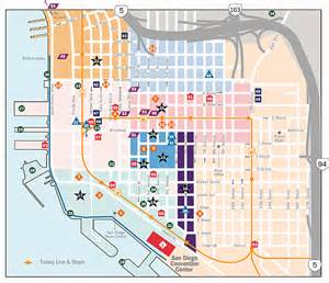 San Diego Hotel Map by Convention Related Hotel