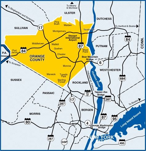 map of orange county orange county ny real estate and information the
