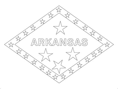 Arkansas State Flag Coloring Page world flags coloring pages