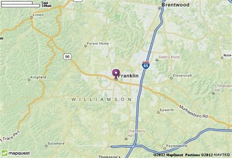 franklin tn map mapquest for the home
