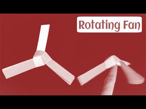 How To Make A Paper Propeller - how to make a paper origami rotating fan paper propeller