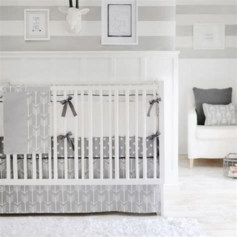 Gray And White Crib Bedding Sets Out And About Gray Crib Bedding Set Rosenberryrooms