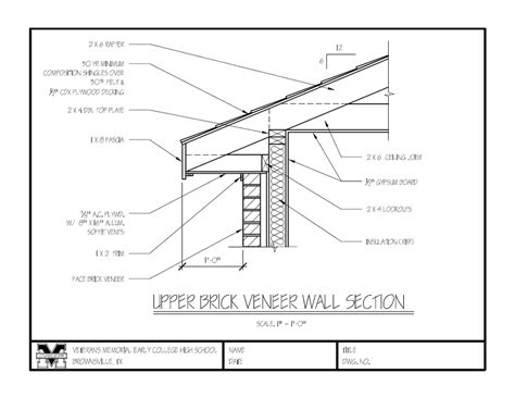wood frame wall section assignments notes 2014 2015 vmhs architecture