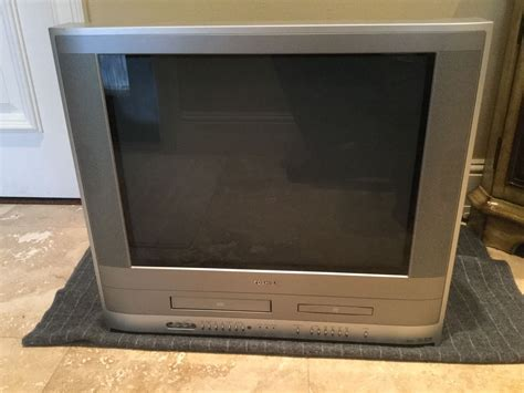 Tv Crt Flat toshiba mw24fpx 24 crt tv dvd vhs vcr player combo color gaming television cctv common