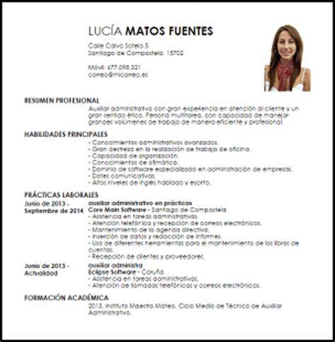 Modelo Curriculum Secretaria Administrativa Modelo Curriculum Vitae Auxiliar Administrativo Principiante Livecareer