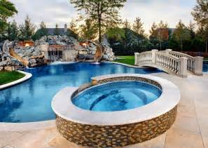 Big Backyard Pools Northbrook Il Freeform Pool Spa Grotto As Featured On Quot Epic Pools Quot Tv Show Transitional