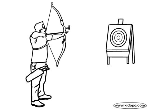 coloring page of bow and arrow bow and arrow coloring page