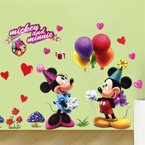 disney wall stickers disney mickey minnie wall decals removable stickers decor nursery room ebay
