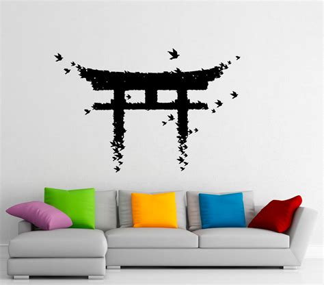 japanese wall stickers torii japanese gate wall sticker vinyl decal japanese culture
