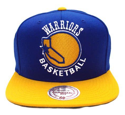 Cap Warriors golden state warriors mitchell ness xl logo snapback cap hat blue yellow
