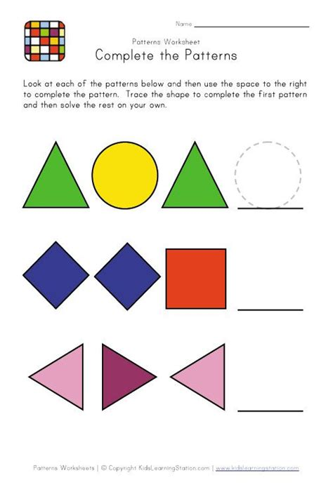 pattern recognition for preschool 11 best pattern worksheets images on pinterest math
