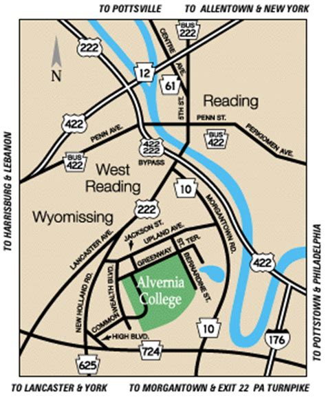 directions to alvernia college