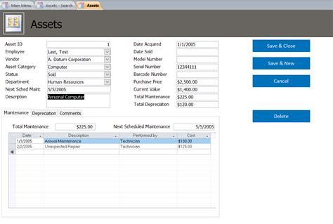 Asset Tracking Database Template Asset Database Asset Database Template Free