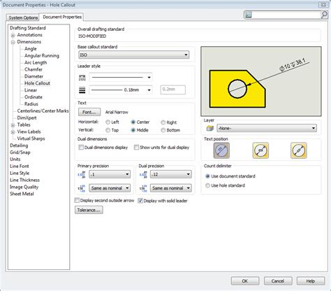 api pattern works inc hole callout solidworks images