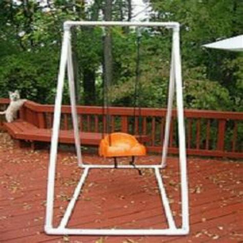 baby swing frame pvc pipe frame for baby swing great if u don t have trees