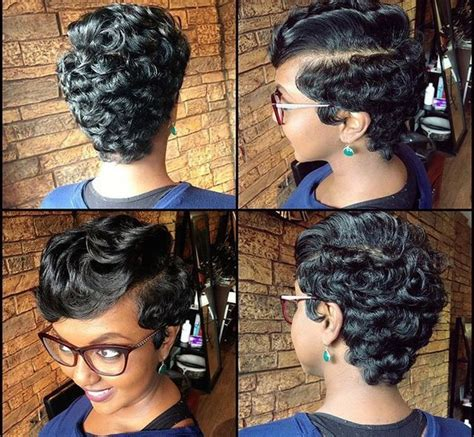 wedding hairstyle with finger wave african american ig queen nefer brittany full pixie african american