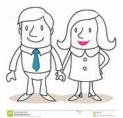 Happy Couple Holding Hands Stock Vector  Image 38831489