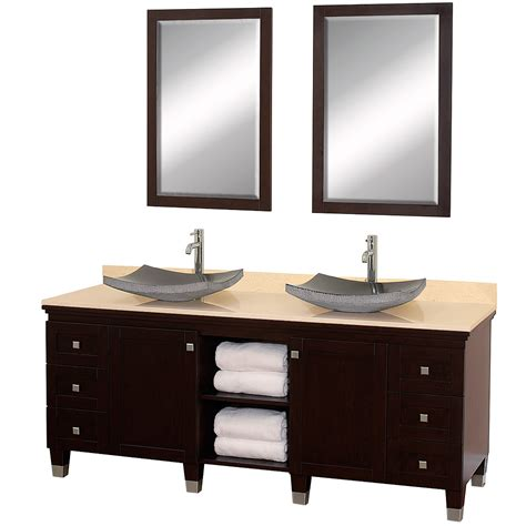 Bathroom Vanity Cabinets 72 Quot Premiere 72 Espresso Bathroom Vanity Bathroom Vanities Bath Kitchen And Beyond