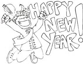 happy new year coloring pages happy new year coloring pages