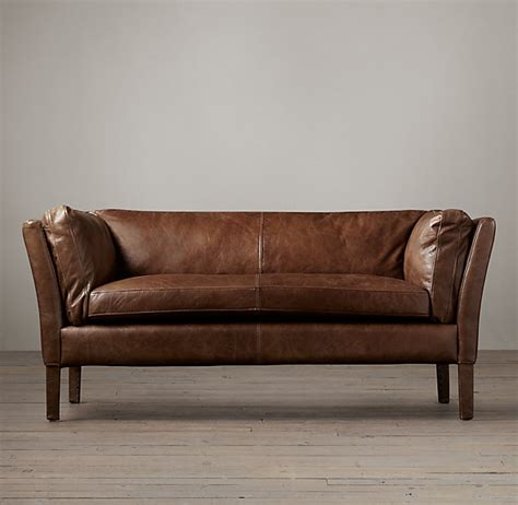 leather sofa restoration hardware restoration hardware sorensen leather sofa decor look alikes