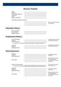 Free Cover Letters To Print by Free Printable Resume Print Blank Resume To Fill Out