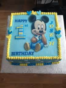 1000 images about birthday cake baby mickey mouse on pinterest