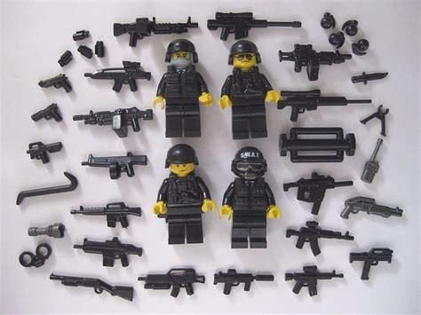 Lego Spear Tombak Black lego custom swat team 4 minifigures plus brickarms weapons