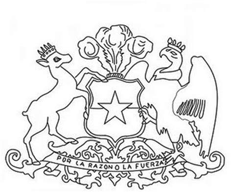escudo bandera de mexico para colorear nocturnar escudo nacional de chile para colorear icarito