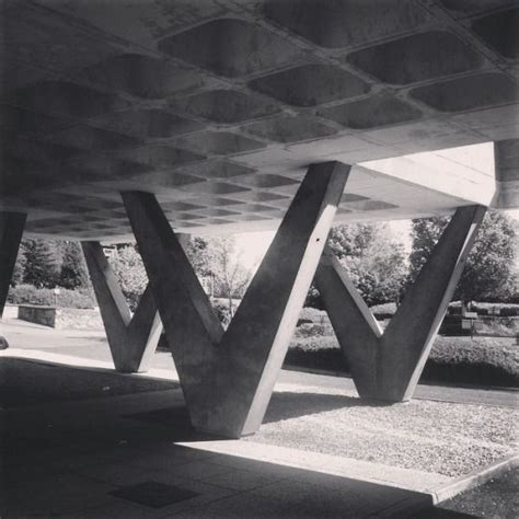 waffle slabs architectural columns brutalist buildings