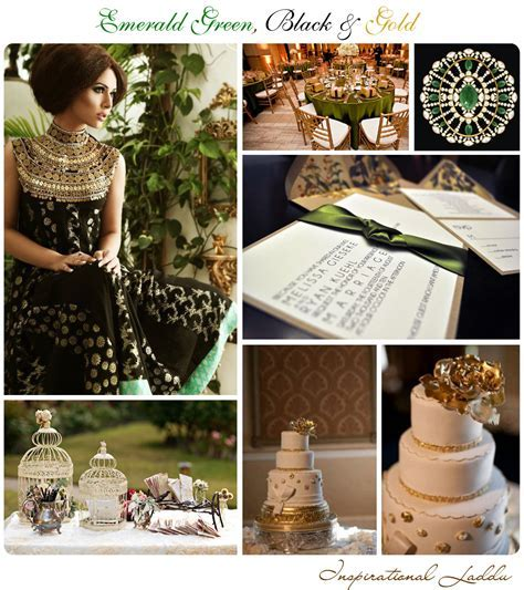 Emerald Green, Black & Gold {Inspiration Board}
