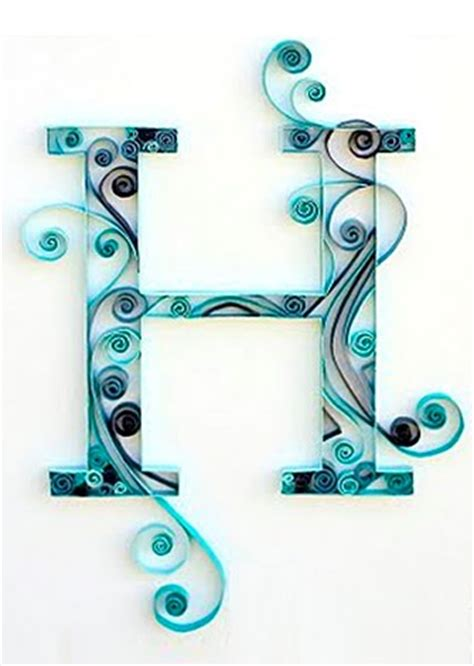 How To Make Paper Quilling Letters - diy quilled monogram letter step by step tutorial you