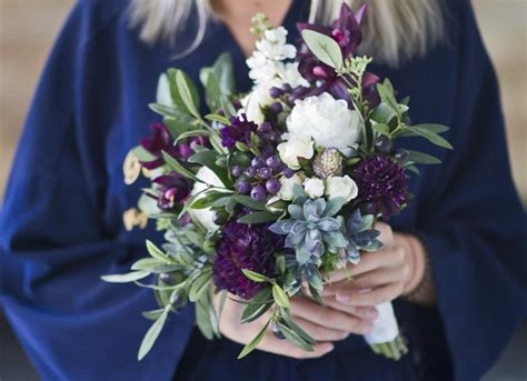 Wedding Bouquet Eggplant by Plum Wedding Bouquet Succulent Bridal Bouquet Eggplant