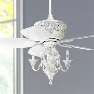 White Ceiling Fan With Chandelier 43 Quot Casa Antique White Ceiling Fan With Light