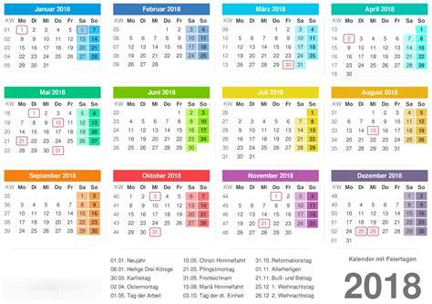 Calendã Unb 2018 Kalender 2018 Mit Feiertagen